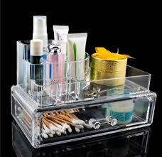 Makeup Desk Organizer Clear Acrylic Cosmetic Organiser Makeup Desk Storage Box Sf 1061