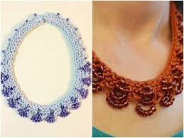 lace necklace patterns images Necklaces bracelets and more 5 knitted summer accessories jpg