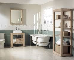 homey vintage bathroom ideas with magnificent wooden shelves
