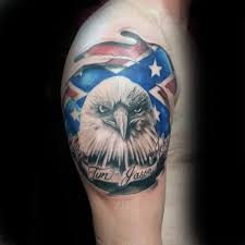 30 rebel flag tattoos for men american revelry design ideas