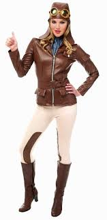 women costumes women s amelia earhart aviator costume candy apple costumes