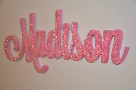 Decorative Wall Letters Nursery 18 Inch Rhinestone Name Plaque Bling Decorative Wall Letters