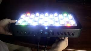 sb reef lights review basic reef tank led light 165w dimmable review youtube