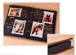 Black Leather Scrapbook Vintage Pu Leather 30 Black Paper Sheets Card Wedding Diy Album