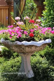 Diy Garden Art Broken Bird Bath Plant It Best Planter Ideas On Pinterest