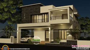 house elevation flat roof real estate pinterest house floor plan and elevation of 4 bedroom modern flat roof house by dream homes tamilnadu india