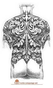 baroque full back tattoo design by lucianopezzoli on deviantart