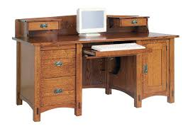 Desk Hutch Bookcase Innovative Real Wood Computer Desk Details About Amish Large