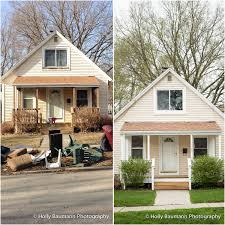 Before And After Home Exteriors by Bungalow Remodel U2013 Before And After Bloomington Il Architectural
