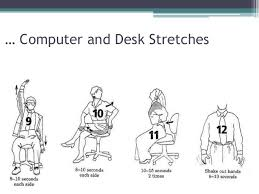 Computer Desk Stretches Office Ergonomics Specially While We Using Computer Or Laptop