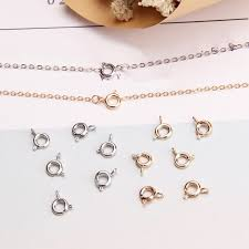 necklace ring clasp images 7mm vintage metal round spring ring clasp buckle hook diy bracelet jpg