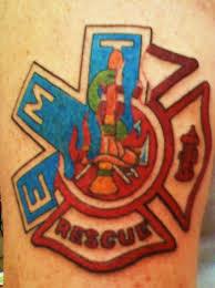 of maltese cross strike the box firefighter tattoos
