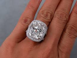 the wedding ring in the world largest lab grown diamond in the world 16 14 carat cushion cut