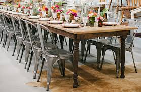 table rentals miami rent vintage furniture miami farmhouse table chairs rentals
