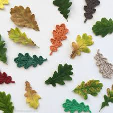 20 free crochet leaf patterns for every season