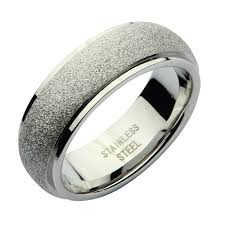 stainless steel wedding rings stainless steel sparkle band cz wedding ring