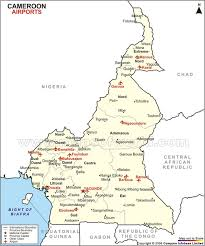 map of cameroon airports in cameroon cameroon airports map