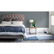 buy john lewis rouen fabric covered bed frame king size grey