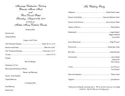 Sample Wedding Program Templates Program Template Beepmunk