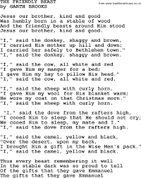 the friendly beast by garth brooks lyrics