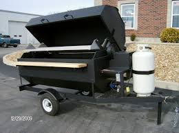 bar b que pits the first cook on the smoker my hubby built