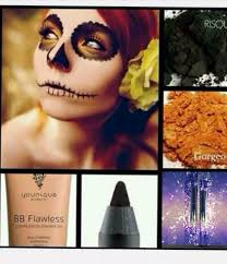 halloween makeup created with younique rose water moodstruck