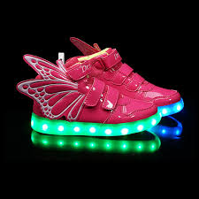 light up shoes for girls new boys girls led light up sneakers wings kids high dance shoes