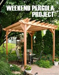 How To Build Your Own Pergola by How Much To Build A Pergola Crafts Home
