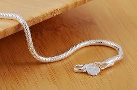 silver snake chain bracelet images Fashion 925 silver 3mm snake chain bracelet silver jewelry silver jpg