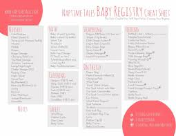 babies registry the ntt baby registry printable is here
