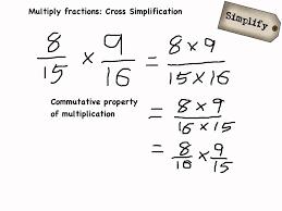 Cross Multiplication Worksheets Multiply Fractions Cross Simplification Youtube