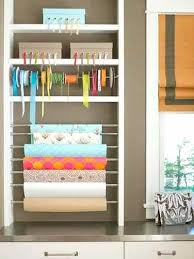 wrapping paper holder door wrapping paper storage gift wrap organization back of door