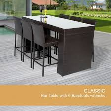 Patio Bar Height Dining Table Set Outdoor Furniture Bar Table Stunning Patio Bar Tables Gallery
