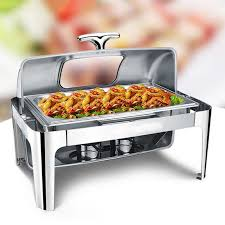 stainless steel buffet heater chafing dish hotpot visible lid
