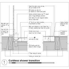 how to frame a floor mastering the curbless shower custom home magazine design