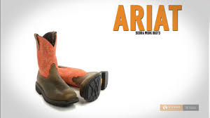 ariat sierra work boots steel toe wide square toe for men