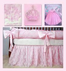 Princess Baby Crib Bedding Sets Baby Nursery Princess Decor Princess Set Of 3 By Handpainting