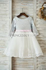 long sleeves silver sequin ivory lace tulle deep v back wedding
