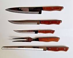 maxam kitchen knives knife vintage maxam stainless steel brown knives set of 5 different