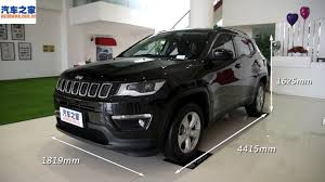black jeep 2017 2017 jeep compass longitude 200t interior and exterior overview