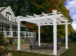 pvc pergola attached cellular pvc pergola on patio diy pvc pipe
