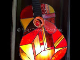 stained glass guitar lamps youtube