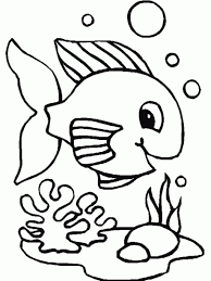 coloring pics of fish coloring pages kids