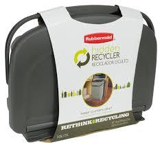 amazon com rubbermaid 1799571 hidden recycler home u0026 kitchen