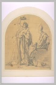 Lui Meme - napoleon crowning himself emperor before the pope louvre museum