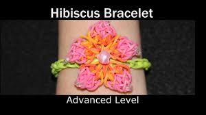 rainbow loom hibiscus bracelet youtube