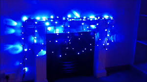 Firefly Led String Lights by Blue Led String Lights With Sparkling Effect Youtube