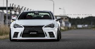 toyota celsior body kit japanese kit turns toyota gt 86 into lexus lookalike with spindle