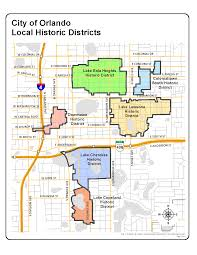 Map Of Orlando Local Historic Districts City Of Orlando Geographic Information