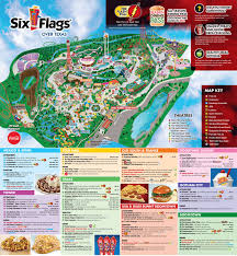 Map Of Orlando Theme Parks by Six Flags Over Texas Thrillz The Ultimate Theme Park Review Site